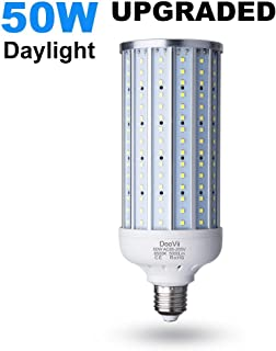 LED Garage Light,50 Watt(350W Equivalent) LED Corn Lamp,5000 Lumen 6500K,Daylight White LED Street and Area Light,E26/E27 Medium Base,for Outdoor Factory Warehouse High Bay and More