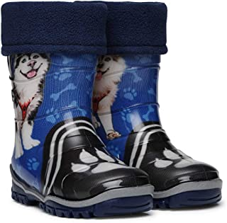 220 Waterproof Wellington Kids rain and Garden Boots for Girls♀/Boys♂/Kids/Childrens