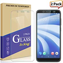 [2-Pack] HTC U12 Life Screen Protector Tempered Glass, Zeking 0.33mm 2.5D Edge 9H Hardness [Anti Scratch][Anti-Fingerprint] Bubble Free, Lifetime Replacement Warranty