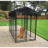 Lucky Dog - Heavy Duty Welded Wire Dog Kennel with Cover and Frame,...