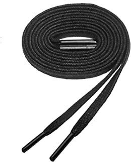 Birch's 7/32 inch Flat Thin Premium Waxed Cotton Shoelaces for Dress Boot and athletic shoes