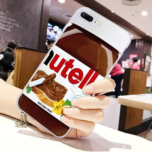 iPhone Case Cute Nutella Love Shockproof Soft Slim Fit for iPhone 7 8 Plus X Xs Max XR 11 Pro Max (Nutella Jar, iPhone 7 Plus/8 Plus)