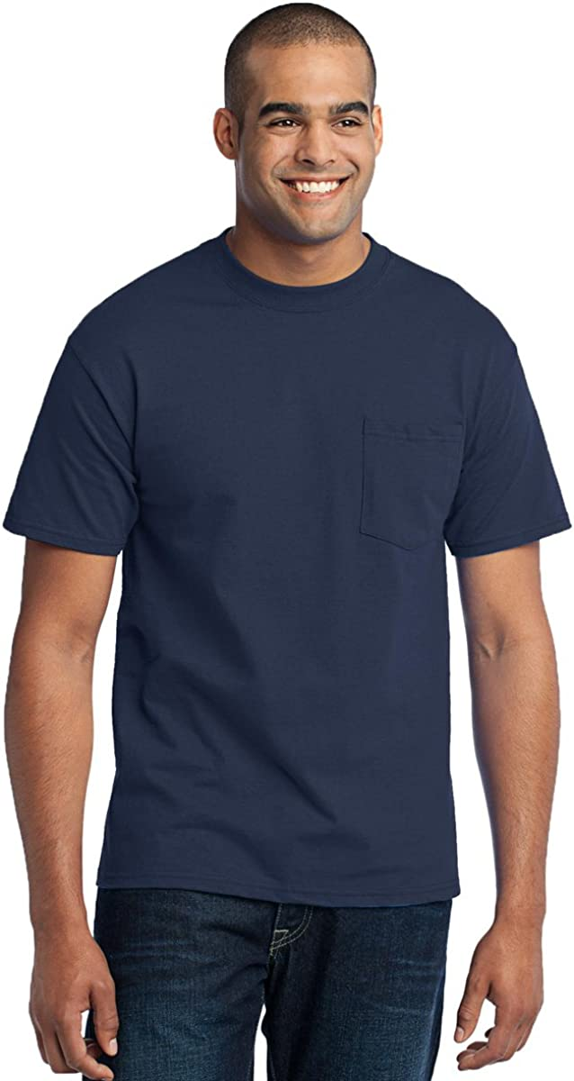 Port & Company Men's Tall 50/50 Cotton/Poly T Shirt with Pocket