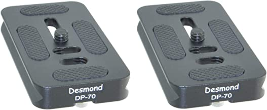 Desmond 2 Pack DP-70 70mm QR Lens Plate Arca/RRS Compatible Dual Dovetail & D-Ring P70 DP70