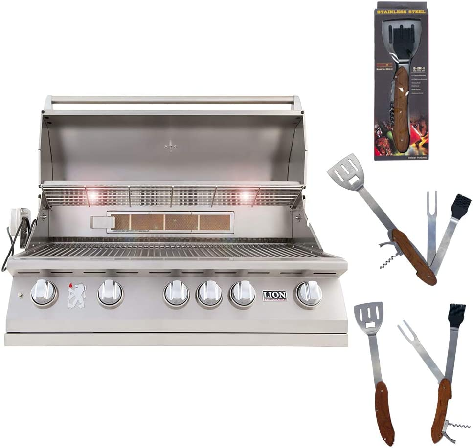 Lion Premium Grills 40 Inch 5-Burner Regular discount Grill Gas L90000 25% OFF Natural wi