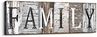 Quotes Wall Art Decor, Family Decorative Signs Inspirational Motto Canvas Prints (With..
