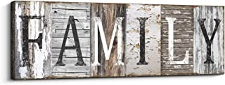 Quotes Wall Art Decor, Family Decorative Signs Inspirational Motto Canvas Prints (with Solid Wood Inner Frame) (Family, 6 x 17 inch)