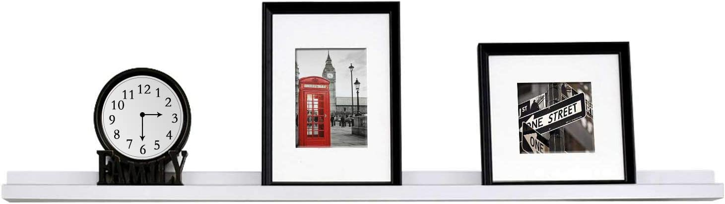 WELLAND White Photo Ledge Price reduction Floating S Picture Display Boston Mall Wall