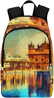 Golden Temple in Amritsar Punjab India Casual Daypack Travel Bag College School Backpack for Mens and Women