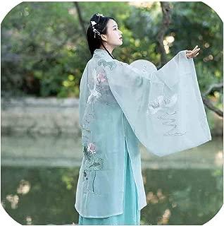 Women Hanfu Ancient Chinese Fancy Dress Halloween Plus Size XL