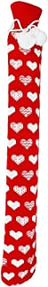 Hot Water Bag Flannel PVC Extra-Long Hot Water Bottle with Detachable Knit Cover for Keeping Warm Hands and Feet at. Detaz...