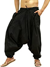 Sarjana Handicrafts Men's Cotton Harem Yoga Baggy Genie Boho Pants