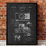 VVSUN Impresión de la cámara de la Vendimia Pintura Abstracta de la Lona Imágenes de la cámara Retro para la fotografía Estudio fotográfico Decoración de la Pared 50X70cm 20x28 Pulgadas Sin Marco