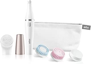 Braun FaceSpa Facial Epilator & Cleanser With 3 Beauty Brushes for Women - 851 (White)