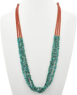 Best three strand turquoise nugget necklace Reviews