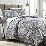 Southshore Fine Linens - The Pure Melody Collection - Comforter Sets, 3 Piece Set, King/California King, Black