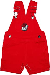 Creative Knitwear University of Georgia Baby and Toddler Short Leg Overalls