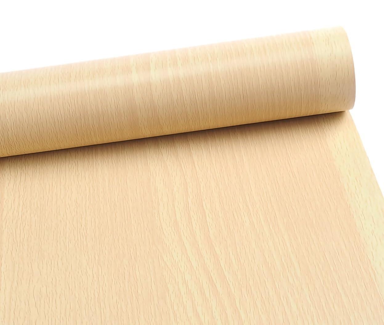 行商人教育かけるMoana Mahana(モアナマハナ) 簡単 リフォーム 壁紙 木目 ウォールステッカー クロス はがせる 防水 リメイク シール 45cm×10m (木目調 ナチュラル)