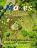 Mazes:Mazes For Kids Ages 4.8.12.: Fun and Challenging First Activity Maze Puzzles For Kids To Develop Intelligence & Problem-Solving Skills (Maze Books For Kids Workbooks)