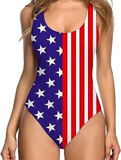 Womens Vintage One Piece Tummy Control Swimsuit Retro Strap Floral Print Swimwear Monokini