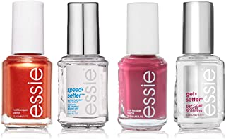 Essie (4 Piece) Lacquer And Top Coat Nail Polish Quick Dry And Gel Nail Polish Set Essie Nail Polish
