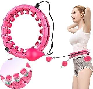 Hula Hoop 24 justerbar hula hoop med massage lämplig för vuxna och barn nybörjare viktminskning fitness och massage