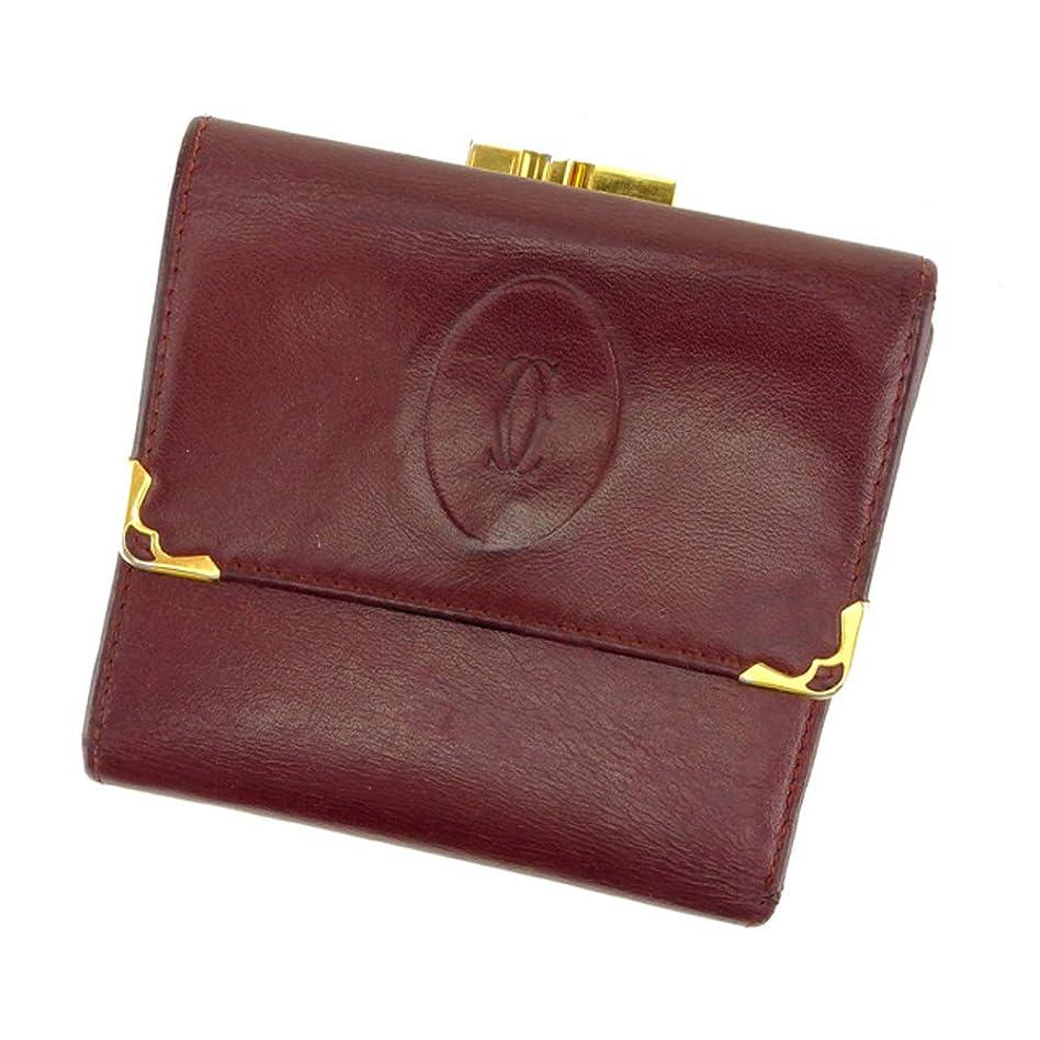 印象詐欺師聡明[カルティエ] Cartier がま口 財布 三つ折り レディース メンズ マストライン 中古 F1425