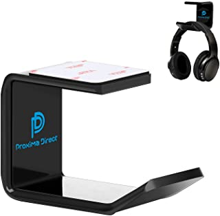 Headphone Stand Hanger, Proxima Direct Headset Holder Under Desk Mount Hook Hanger for All Size Wired Wireless Headphone/G...