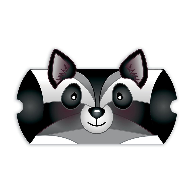 Jillson Roberts Animal-Shaped Pillow Boxes, Black/White Raccoon, 6-Count (GCA006)