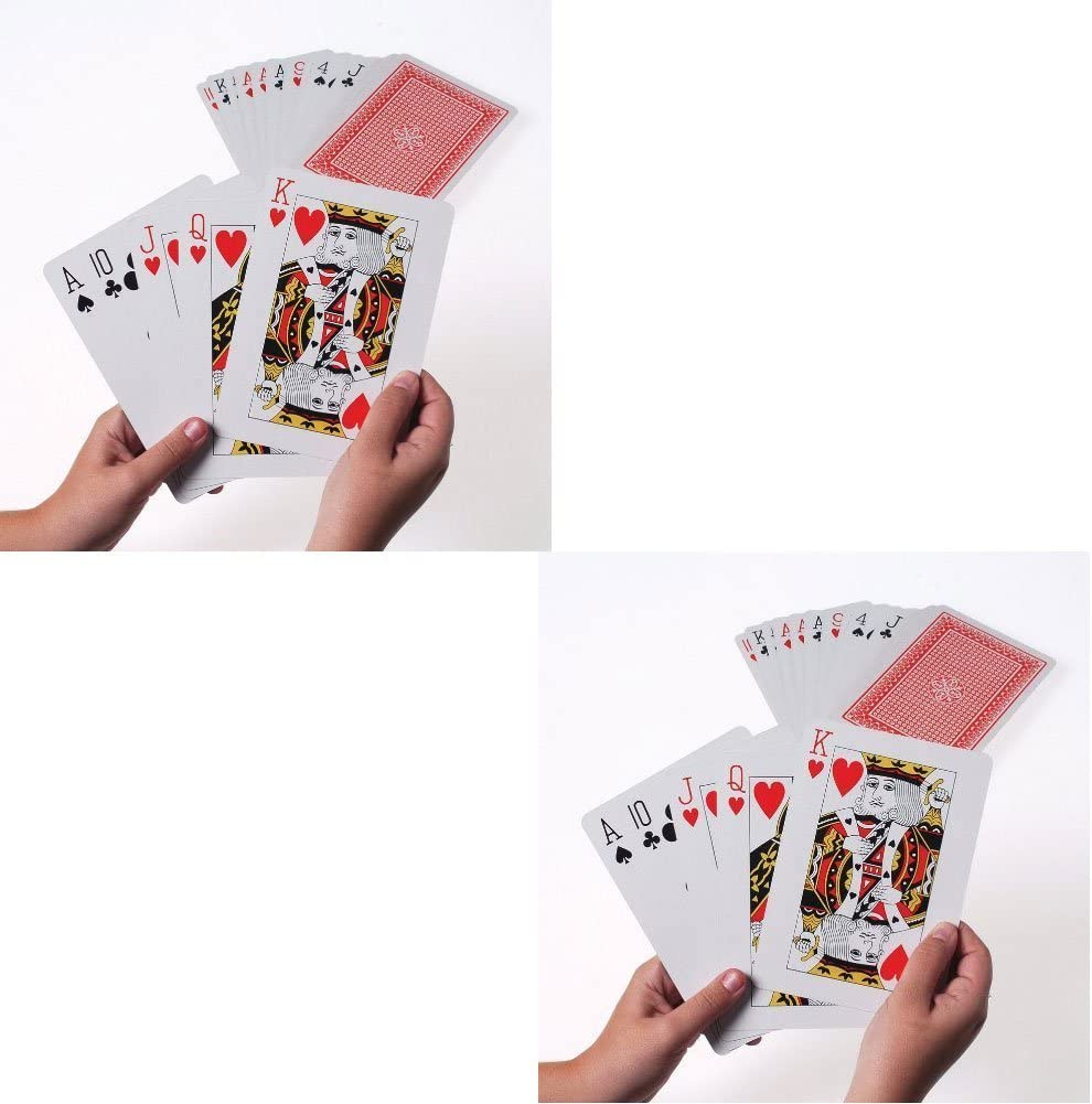 Giant 5 x 7 Inch Playing Cards (2 Pack)