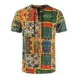 T-Shirt Hombre Verano Hip Hop Estilo Hombre Tradicional Camisa Vintage Estampado Manga Corta Hombre Shirt Personalidad Moda Lazada Hombre Casuales Camisa YC03 XL