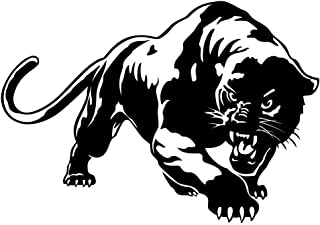 Car Stickers Decals, Fiery Wild Panther Hunting Car Body Decal Car Stickers Motorcycle Decorations