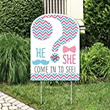 Big Dot of Happiness Chevron Gender Reveal - Party Decorations -...