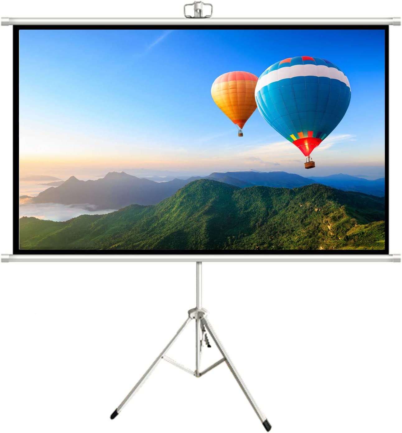 160°Viewing Angle Projector Screen Very Suitable Home Party Office Classroom, Stand Stand Projection Screen High Contrast Crease-Free Movie Screens