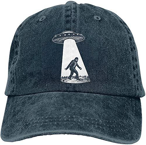 Waldeal Men's UFO Bigfoot Baseball Caps Adjustable Vintage Fashion Snapback Dad Hat Navy