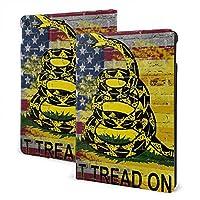 アメリカ国旗 ヘビ 攻撃 IPad ケース iPadカバー 手帳型 10.2インチIPad保護カバー 高級PUレザーケース スタンド 全面保護 多角度調整A2197 / A2200 / A2198 / A2199汎用ケース 傷つけ防止 耐衝撃