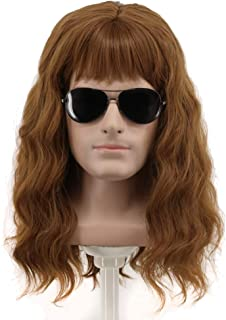 Yuehong 70s 80s Costumes For Men Women Wigs Spiked Rock Wig Mullet Style Heavy Metal Halloween Wigs