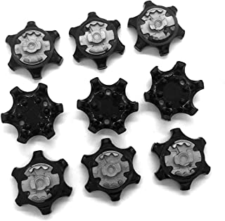 OLEYO 28 Set THiNTech Golf Shoe Spikes Replacement Cleats Fits Most Golf Shoes Models 2010 and Newer (Black) 28 Set