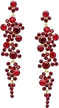 Rosemarie Collections Women's Crystal Rhinestone Bubble Dangle Statement Earrings