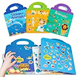 HahaGift Toys for 3 Year Old Girls Gifts,Sticker Book for 2 3 4 5 Year Old Girls Boys Gifts Learning Toys for Toddlers 1-3,Static Sticker for Montessori Toys for 1 2 3 Year Old Toddler Toys Age 2-4