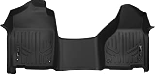 MAXLINER Floor Mats 1st Row 1pc Liner Black for 2012-2018 RAM 1500 Quad Cab with 1st Row Bench Seat and Front Dual Floor Hooks