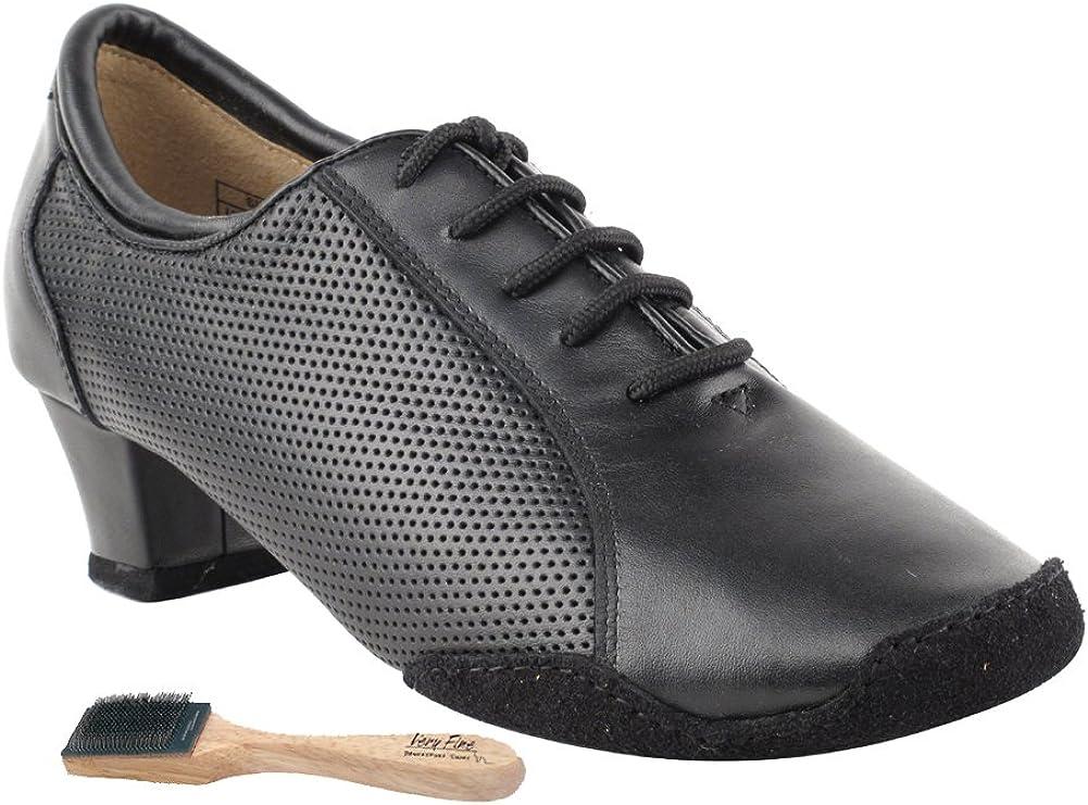 Very Fine Ladies Women Ballroom Dance Shoes CD1119 Split Sole Black Leather 1.5