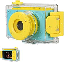 myFirst Waterproof Kids Camera Mini 8MP 1080P HD Camcorder with Free 16GB MicroSD Card Included and MicroSD Support Slot Video Taking Function and Preset Frames (Blue)