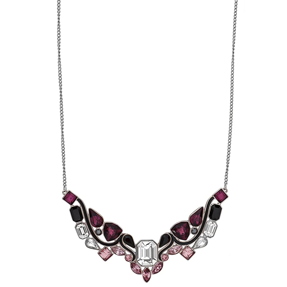 Swarovski Impulse 5152835 Multi Color Crystal Rhodium Plated Bib Necklace