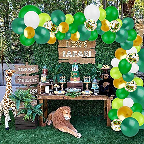 Buy Bargain Finypa Jungle Theme Party Supplies, 103 Pcs Balloon Arch Kit, Green Balloons Garland for...