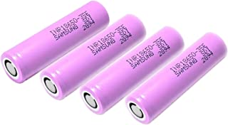 4 Pack of Authentic 35E, 3500mAh 3.7V 8A, Flat Top,65mmX18mm, for Flashlight