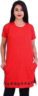 Long T Shirts for Women Red