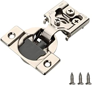 "Best Furniware 10 Pieces Soft Closing Cabinet Hinges, 1/2"" Overlay Cabinet Hardware Hinges Nickel Plated- 105 Degree Review"