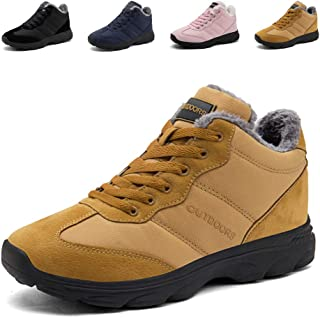 DADAZE Snow Boots,Mens Winter Hiking Trekking Shoes Womens Fur Lined Warm Boots Non-
