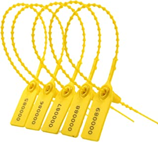 Yellow Zip Tie Seals Anti Tamper Tags Disposable Adjustable for Fire Extinguisher and Fire Safety (1000Pcs)